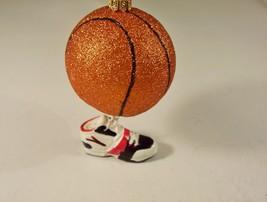 Christmas Ornament Sports Glitter Basketball Dangling Tennis Shoe - $6.99