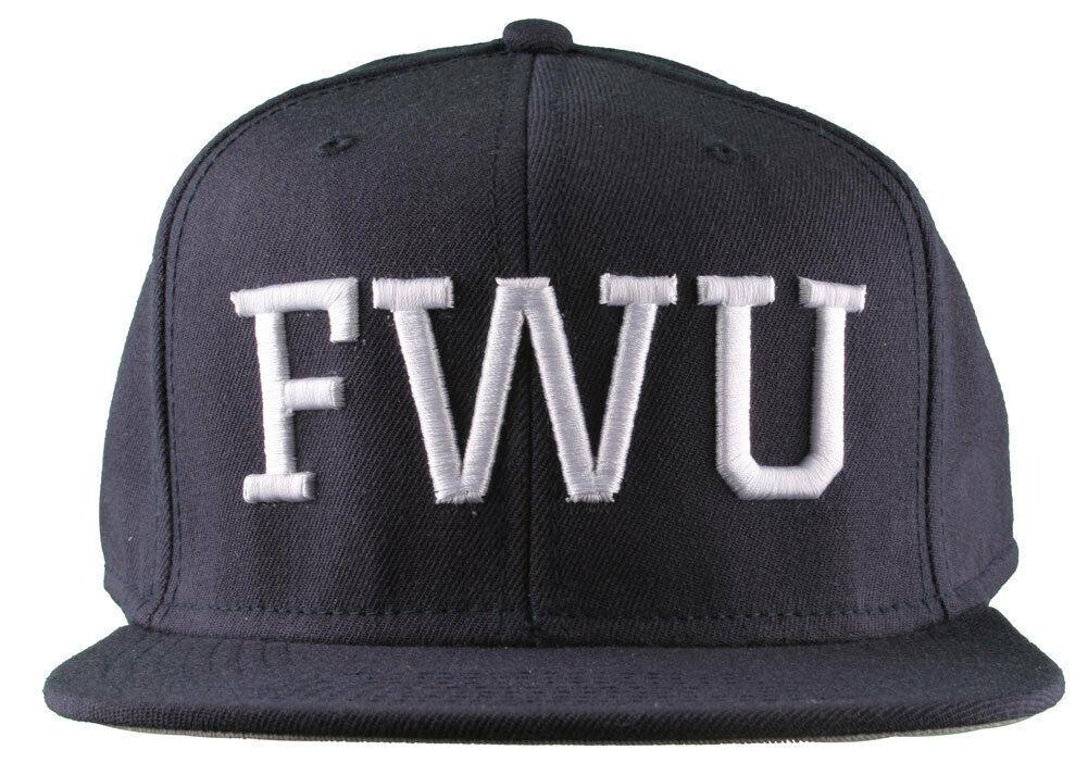 Crooks & Castles F.W.U Fu k with Us Dark Navy Snapback Baseball Hat NWT