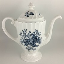 Royal Worcester Blue Sprays Coffee pot & lid  image 1