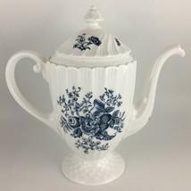 Royal Worcester Blue Sprays Coffee pot & lid  - $90.00