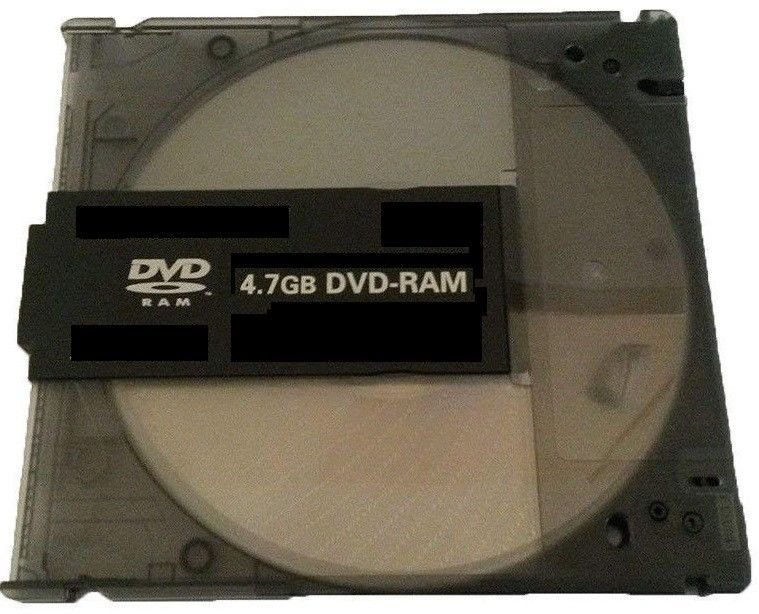 Primary image for 100x Blank DVD-RAM (4.7GB 120min 3x) Disc With Black Removable Cartridge