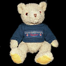 Vintage Hard Rock Cafe Singapore Stuffed Teddy Bear Plush Navy Blue Swea... - $29.99