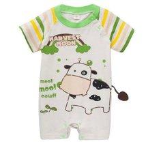 Toddler Bodysuit Baby Romper Infant Onesies Creep Short Sleeves Little Cow