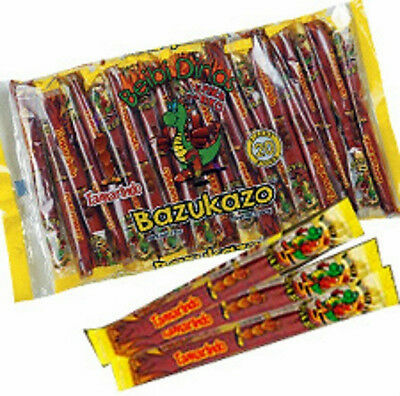 Primary image for Bazukazo Tarugos Tamarindo Con Chile Mexican Tamarind Candy Sticks 20 Pcs