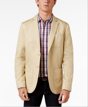 $199 Tommy Hilfiger Men's Carolina Cotton Sport Coat, Beige, Size 42R - $98.99