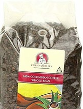 Chef's Quality 100 % Colombian Whole Bean Roasted Coffee, 2.5 Lbs (2 Pack) - $35.16