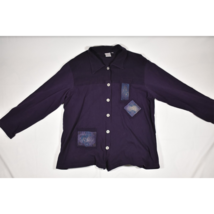 Womens Focus USA Purple LS Button Down Shirt / Overshirt Size Large - $48.99