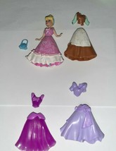 Disney Mattel Polly Pocket Lot CINDERELLA with Dresses and Purse - $9.99