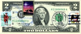 MONEY US $2 DOLLARS 1976 FIRST DAY STAMP CANCEL & CHRISTMAS MAGI HOLY FA... - $85.32