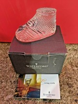 New Waterford 2019 Crystal Baby's First Christmas Boy Girl Boot Ornament - Nib - $41.16
