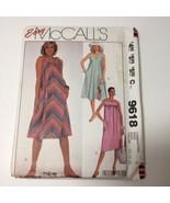 McCall's 9618 Size 12-16 Misses' Sundress - $11.64