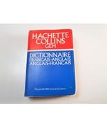 Mini Travel French English Dictionary 1980 Hachette Collins Gem Francais... - $3.90