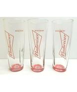 3 Budweiser Red Bottom Anheuser Busch Signature Tall Beer Barware Decor ... - $38.28
