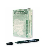 Pentel SMW26 Wet Erase Chisel Point Chalk Marker (12pcs) - Black - $35.99