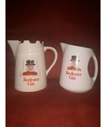 """2 VINTAGE WADE  England BEEFEATER GIN 6"""" LIQUOR PITCHER  - $24.74"""