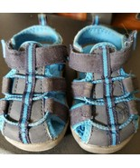 Koala Kids Man Made Canvas Black & Blue Sandals Toddler Kids Size 5 - $8.90