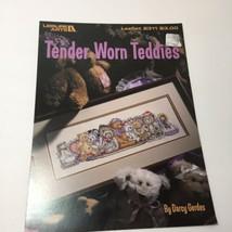 Tender Worn Teddies Cross Stitch Pattern Book Leisure Arts - $9.74