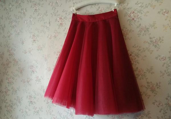 Tulle Midi Circle Skirt Womens Black White A-line Tulle Full Circle Midi Skirts