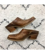 Dr Scholls 7M Round Up Brown Embroidered Leather Western Women's Shoes M... - $28.88