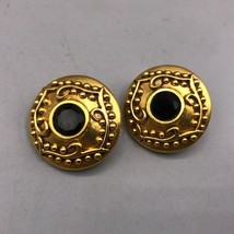 Vintage Diva Signed Gold Tone Clip On Earrings - $29.69