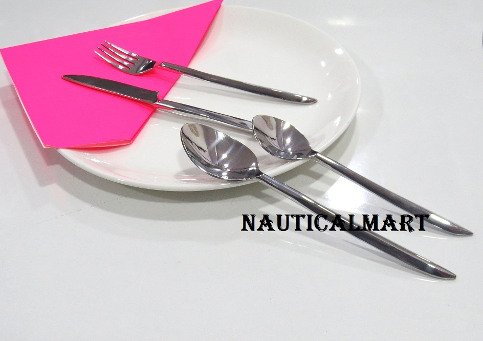 Primary image for Al-Nurayn Stainless Steel Silverware Cutlery Set Of 6 Pieces By NauticalMart