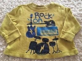 Circo Boys Green Blue Rock On Guitar Drums Long Sleeve Thermal Shirt 12 ... - $4.00