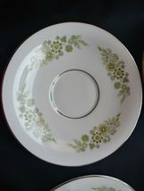 Wedgwood Caroline 14 Soup Cups & Saucers Bone China Made in England White Green image 4