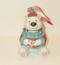 "Collectible Hallmark 3"" Ornament Polar Bear Cookie Jar eating a Cookie 2... - $25.00"