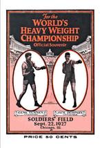 Boxing Jack Dempsey vs Gene Tunney Poster  1927 - $12.00