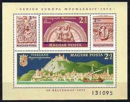 HUNGARY 1975 # B311 S/S MNH EUROPA MADONNA SHIP ARCHITECTURE 6085-RD-A2 - $6.44