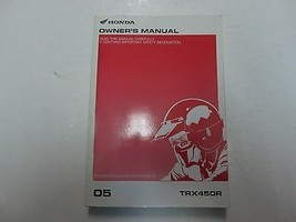 2005 Honda TRX450R Owners Operators Owner Shop Manual Factory New - $54.33