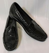 NWOB SAS loafers 8.5 S slim BLACK leather shoes Alligator NEW flats slip-on - $66.05