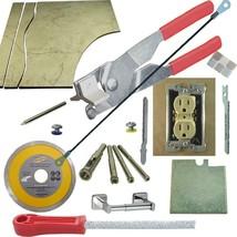 Tile & Glass Cutter Kit Red Curve Notch Cutout Jigsaw Rodsaw Grinder Dri... - $83.22