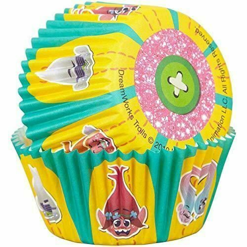 Primary image for Trolls 50 Baking Cups Party Cupcakes Treats Wilton