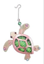 Gemma Green Turtle Ocean Ornament Metal Fair Trade Pilgrim Imports New - $26.68