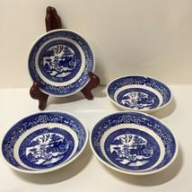 """4 Fruit Desert Bowls Bowl Blue Willow Homer Laughlin 5.25"""" H62N4 - $19.34"""