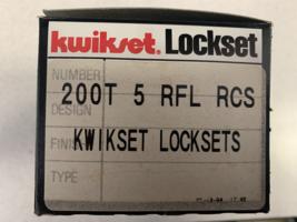 Kwikset 200T5 RFL RCS Passage knob Antique Brass Finish New. - $31.99