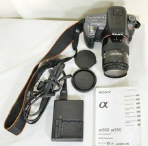 Sony Alpha DSLR-A550 14.2MP DSLR Camera Minolta Maxxum 35-105mm f/3.5-4.5 AF Len image 2