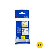 Brother Strong Adhesive 24mm Tape Cassettes (4pcs), Black on White, TZe-... - $132.99
