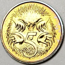 1984 AUSTRALIA 5 CENTS BU UNC GREAT DETAIL COIN COLOR TONED IN HIGH GRADE - $19.99