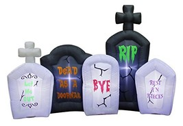 Occasions Inflatable Flashing Lights Tombstone Scene Halloween Decoration - $45.38