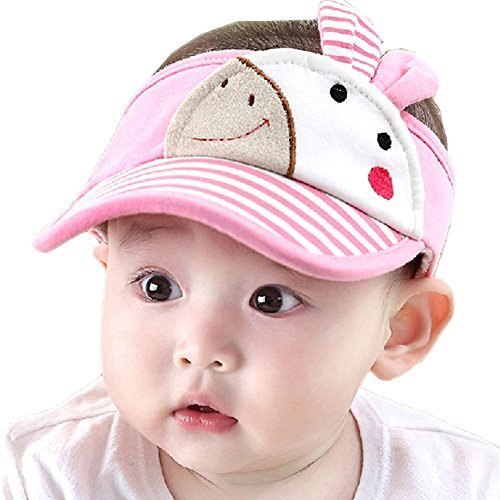 Baby Sun Protection Hat Infant Cap Toddler Without Top 9-36Months(Pink)