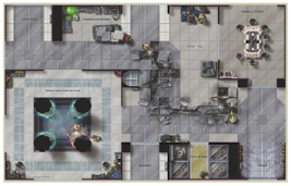 Death Star Power Chamber Map Wizards Of The Coast Star Wars Miniature Map - $16.99