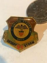 United States Navy 1991 Desert Storm Pin Eagle Map IRAN IRAQ SYRIA - $11.29