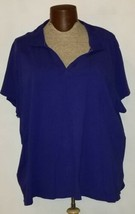 St. Johns Bay Womens Plus Size Collared V-Neck Pullover Polo Shirt Top  - $7.99