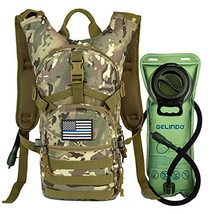 Gelindo Military Tactical Hydration Backpack with 2L Water Bladder (CP-Tan) - $862,48 MXN