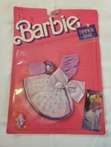 NRFB 1988 Barbie Doll Outfit #1304 DINNER DATE Fashions Clothes Dress  - $18.76