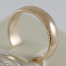SOLID 18K YELLOW GOLD WEDDING BAND FLAT RING 6 GRAMS BY UNOAERRE MADE IN ITALY image 2