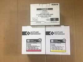 Lot of 3 Compatible Canon GPR-23 MYK Toner For iR C2550 C2880 C3080 C3380 C3480 - $140.58