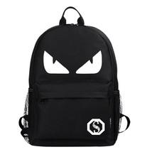 cool luminous big devil youth leisure USB charging backpack - $26.00